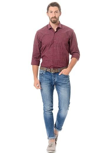 Ekose Slim Fit Uzun Kollu Gömlek-Wessi
